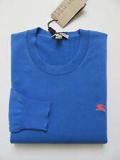NWT Burberry Brit Barton Crewneck Cotton Sweater (Hydrangea Blue; Size S) US$295