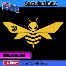 Sticker Bumblebee style Logo Yellow Carbon Fibre effect Transformers Decal
