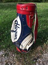 Red White Blue Leather Hogan Golf Bag