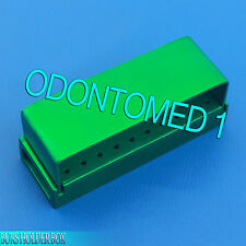 30 Holes Dental Aluminum Bur Burs Holder Box Autoclave Green Color DN-2089