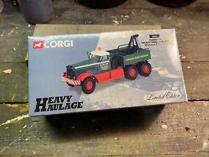 Corgi 55603 Cadzow Heavy Haulage Ltd Diamond T Wrecker Diecast Model 1.50 Mint