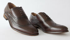 Goor Brown Mens Leather Lined Lace Up Formal Office Brogue Shoes UK 7/Euro 41