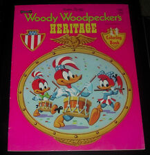 Walter Lantz Woody Woodpecker'S Heritage Coloring Book 1973 Uncolored