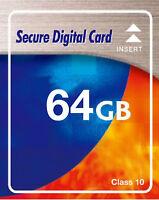 64GB SDXC SD XC Class 10 High Speed Speicherkarte für Sony DSC RX 100 Kamera