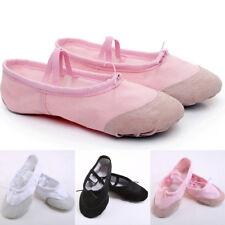 Children Adult Canvas Split Sole Ballet Dance Shoes Acc Slippers Size 23-45 Gift