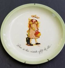 Holly Hobbie plate Love is the nicest gift