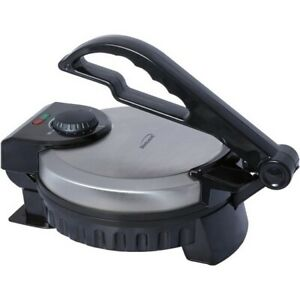 Brentwood TS-127 Black Brushed Stainless Electric Nonstick Tortilla Maker