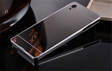 Aluminum Metal Bumper Mirror Case For Sony Xperia Z5 Premium Z4 Z3 Z2 Z1 Compact
