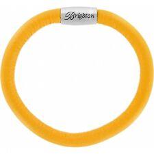 NWT Brighton WOODSTOCK Lemonade Yellow Single Leather Bracelet  S/M MSRP $40