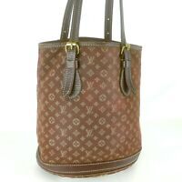 LOUIS VUITTON PETIT BUCKET PM Tote Shoulder Bag Monogram Mini Lin M95226 Ebene
