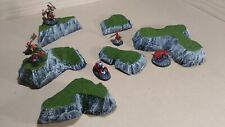 Wargaming Terrain - Small Box Set of Hills Grass Finish