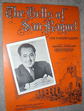 1941 THE BELLS OF SAN RAQUEL Sheet Music PAUL LAVAL Barcelata, ENG & SPANISH