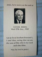 Dan Breen Memoriam card