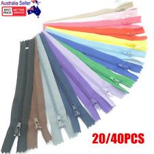 20/40pcs Assorted Color Nylon Close End Zipper Pack DIY Craft Dressmaking Zip OZ