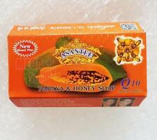 Asantee Thai Herbal Papaya + Honey Soap with Q10, AHA, BHA Skin Whitening 125g