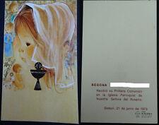 ESTAMPA PRIMERA COMUNION HOLY CARD IGLESIA DEL ROSARIO 1973 SEDAVI CC1338