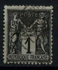 FRANCIA 1877-90, 1c Nero Usato #D50402