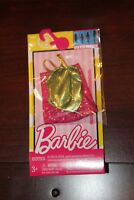 Barbie Fashion Dress Gold Shimmer with Pink and Polka Dots Dress
