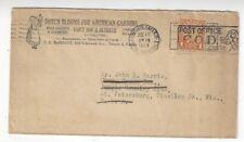 1929 Toronto Canada to St Petersburg Florida Dutch Blooms Flower Advertising COD