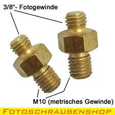 """2x Gewindeadapter Außengewinde 3/8""""- Außengewinde M10 (Zoll/UNC - Metrisch)"""
