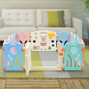 Baby Playpen Foldable Toddler Activity Divider Fence Indoor Outdoor 14 Panel