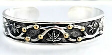 Cynthia Gale Sterling 18K Floral Cuff Bracelet