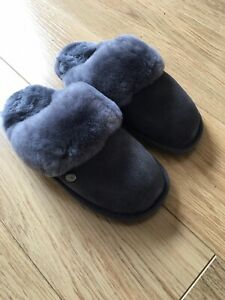 Brand New Just Sheepskin Mule Slippers Uk 3/4 (35-37) Grey