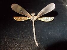STERLING  dragonfly pin, 17.8 grams,  estate