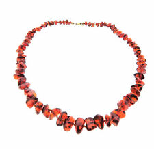 Vintage Genuine Baltic Amber Graduated Bead Necklace Strand 8-15mm 21 inch