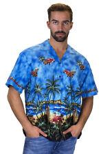 KY's Original Camisa Hawaiana Escarabajo Volador Flying Beetle Azul