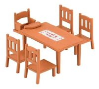 Epoch Sylvanian Family Furniture Dining Table Set Cute Doll Accessory Ka-412 F/S