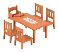 Epoch Sylvanian Family Furniture Dining Table Set Cute Doll Accessory F/S