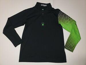 SPYDER Youth Boys Black Pullover 1/4 Zip Jacket Size XL (16-18)