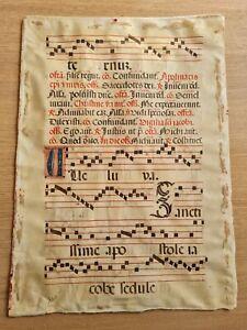 Antico Manoscritto Musicale su Pergamena Apolinaris