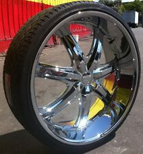 26 INCH B7 RIMS TIRES CHARGER MAGNUM CHRYSLER 300 CHALLENGER IMPALA CAPRICE