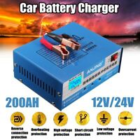 12/24V 200AH Car Battery Pulse Repair Charger Automatic Intelligent Lead