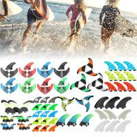 3PCS/ Set Glass Fiber Surfboard G3/G5 Fins Surfing Stand Up Paddle Fin Thruster.
