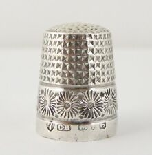 Antique 1909 Hallmark Sterling Silver Sewing Thimble Silversmith Charles Horner