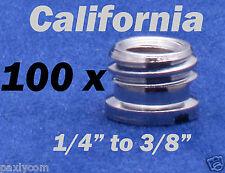 "100x 3/8"" to 1/4"" inch Convert Screw Adapter Ball head Clamp Camera Telescope"