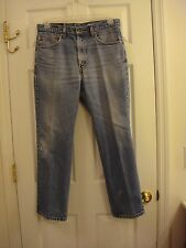 Men's Levi's 517 Boot Distressed With Frayed Holes Denim Jeans Size 34 x 29