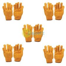 Yellow Criss Cross Gripper Gloves Large Size Pack Of 5