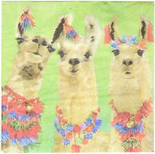 """Paperproducts Design PPD Llama Amigos Beverage/Cocktail Paper Napkins, 5""""x5"""""""