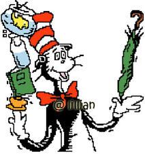 DR SEUSS CAT IN THE HAT JUGGLING Cross Stitch PATTERN