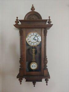 Vtg 1977 Made In Korea Wooden 31 Day Pendulum Wall Clock Beautiful design unique