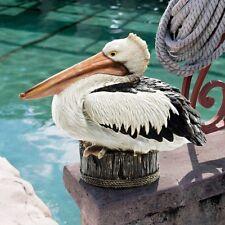Pelican Statue Large Coastal Yard Art Bird Figurine Outdoor Nautical Theme Décor