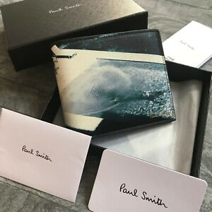PAUL SMITH HOLIDAY PHOTO PRINT LEATHER WALLET MADE IN ITALY BNIB