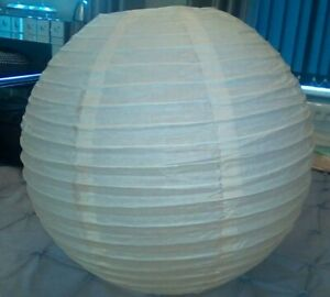 Large paper lampshade cream Oriental round