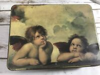 Raphael's Angels Collectible Metal Box Tin Stationery Folded Note Cards