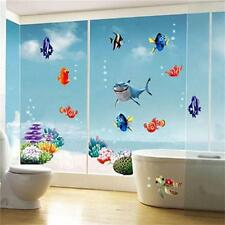 PVC DIY Removable Ocean Sea Fish Vinyl Wall Sticker Mural Funny Bathroom Decal
