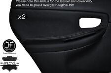 Gris stitch 2x porte arrière couverture en cuir Garniture carte fits SUBARU IMPREZA WRX 05-07